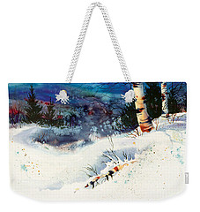 Blue Sky Birch Weekender Tote Bag