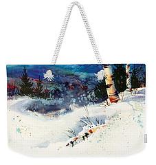 Blue Sky Birch Weekender Tote Bag