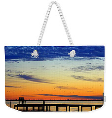 Weekender Tote Bag featuring the photograph Blue Sky by Faith Williams
