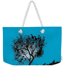 Weekender Tote Bag featuring the drawing Blue Sky Moon by D Hackett