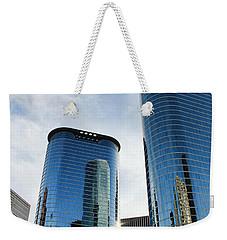 Blue Skyscrapers Weekender Tote Bag by Judy Vincent