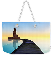 Blue Smooth Weekender Tote Bag