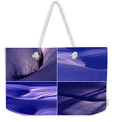 Blue Snow Weekender Tote Bag by Randi Grace Nilsberg