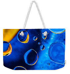 Blue Space Ice Weekender Tote Bag by Bruce Pritchett