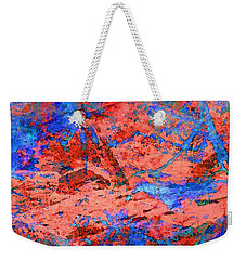 Blue Splash Poppy Rock Weekender Tote Bag