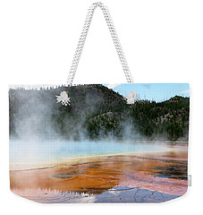 Weekender Tote Bag featuring the photograph Blue Steam by Laurel Powell
