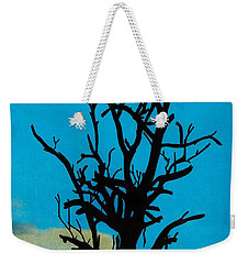 Weekender Tote Bag featuring the drawing Blue Sunset by D Hackett