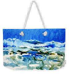 Blue Surf Weekender Tote Bag