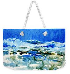 Blue Surf Weekender Tote Bag by Joan Hartenstein