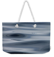 Weekender Tote Bag featuring the photograph Blue Swirls by Cathie Douglas