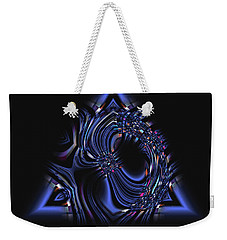 Blue Triangle Jewel Abstract Weekender Tote Bag