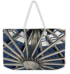 Blue Umbrella Underpinnings Weekender Tote Bag by Kathy Barney