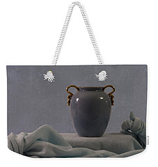 Blue Vase And Damask Weekender Tote Bag