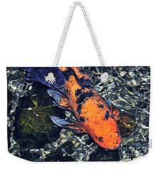 Blue Velvet And Goldie Koi Weekender Tote Bag