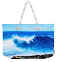 Blue Weekender Tote Bag by Vesna Martinjak