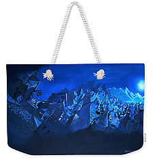 Weekender Tote Bag featuring the painting Blue Village by Joseph Hawkins