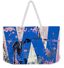 Weekender Tote Bag featuring the photograph Blue W by Ethna Gillespie
