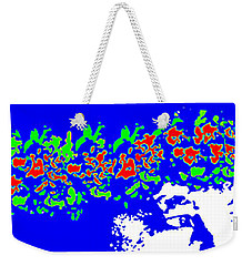 Blue Wahine Weekender Tote Bag