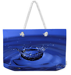 Blue Water Splash Weekender Tote Bag by Anthony Sacco