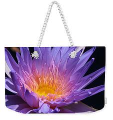 Blue Waterlily 2 Weekender Tote Bag