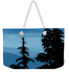 Blue Yonder Mountain Weekender Tote Bag by Susan Garren