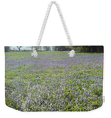 Weekender Tote Bag featuring the photograph Bluebell Fields by John Williams