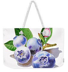 Artz Vitamins The Blueberries Weekender Tote Bag by Irina Sztukowski