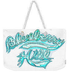 Blueberry Hill Inverted In Neon Blue Weekender Tote Bag