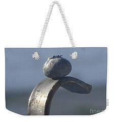 Weekender Tote Bag featuring the photograph Blueberry Portrait by Christina Verdgeline
