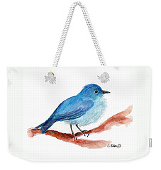 Weekender Tote Bag featuring the painting Bluebird by C Sitton