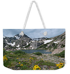 Weekender Tote Bag featuring the photograph Bluebird Lake - Colorado by Cascade Colors