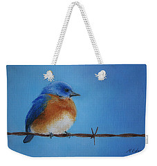 Bluebird On A Wire Weekender Tote Bag by Marna Edwards Flavell