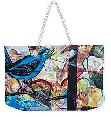 Bluebird Signs Weekender Tote Bag