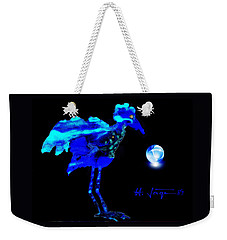 Weekender Tote Bag featuring the painting Bluebird Watching by Hartmut Jager