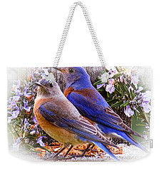 Bluebird Wedding Weekender Tote Bag