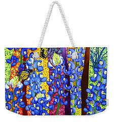 Bluebonnet Garden Weekender Tote Bag