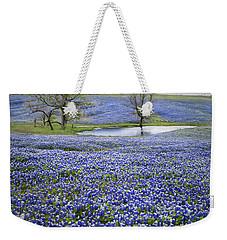 Bluebonnet Pond Weekender Tote Bag