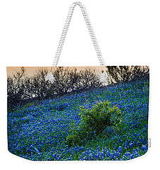 Grapevine Lake Bluebonnets Weekender Tote Bag by Inge Johnsson