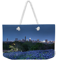 Bluebonnet Twilight Weekender Tote Bag