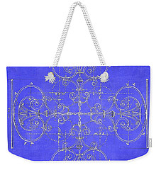 Blueprint Maltese Cross Weekender Tote Bag by Suzanne Powers