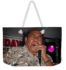 Weekender Tote Bag featuring the photograph Bluesman James Cotton by Mike Martin