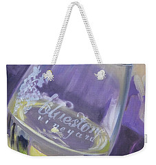 Bluestone Vineyard Wineglass Weekender Tote Bag by Donna Tuten