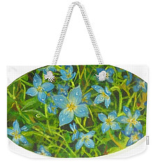 Bluets Of The Shenandoah  Weekender Tote Bag