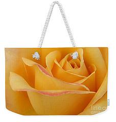 Blushing Yellow Rose Weekender Tote Bag