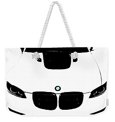 Bmw White Weekender Tote Bag
