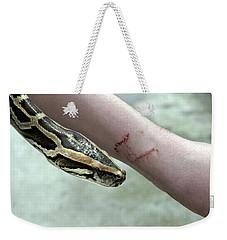 Boa Constrictor Bite Weekender Tote Bag