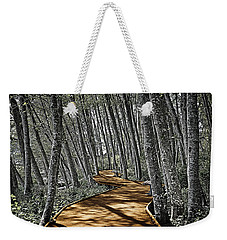 Boardwalk In The Woods Weekender Tote Bag