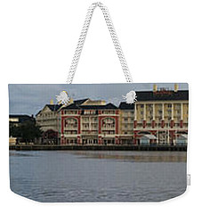 Weekender Tote Bag featuring the photograph Boardwalk Panorama Walt Disney World by Thomas Woolworth