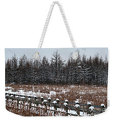 Weekender Tote Bag featuring the photograph Boardwalk Series No1 by Bianca Nadeau