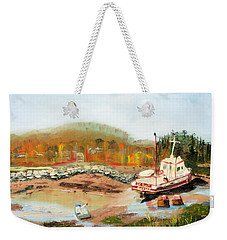 Boat At Bic Quebec Weekender Tote Bag